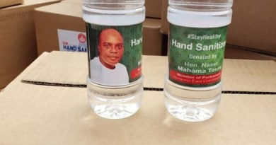 MP distributes 3000 hand sanitizers and face masks to constituents