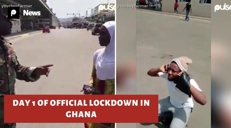 Needless Brutal Assault of Ghanaians by the Security Agents Deployed to enforce Akufo-Addo's Directive on Partial Lockdown to Tackle the Coronavirus Spread...