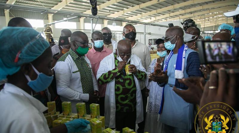Management of Ekumfi fruits & Juices factory commends President
