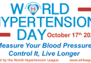 17th October 2020 is World Hypertension Day