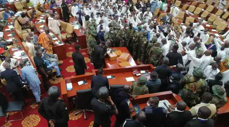 "Mahama: The invasion of the Chamber of Parliament by the military is ""an abomination"" - Mahama"
