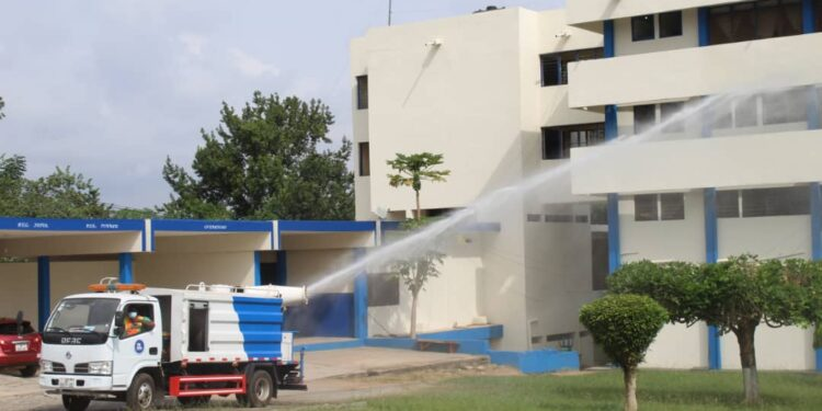 Police Nationwide Disinfection Exercise kick-starts in Ahafo, Eastern & Western