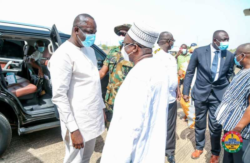 Large Crowd meets Speaker Bagbin on his historic visit to his Hometown