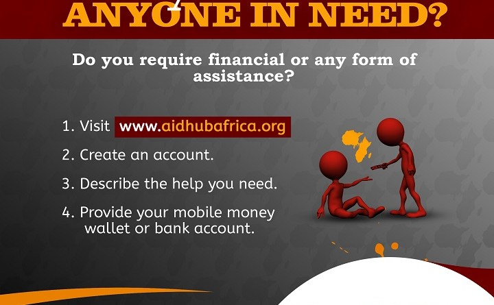Aidhub Africa platform supporting Sub-Saharan Africa to raise funds.