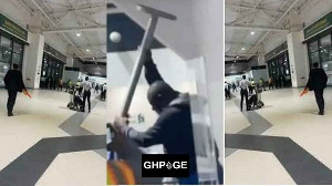 VIDEO: Man goes MAD at Kotoko Airport after check-in