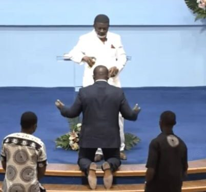 Hot Video: Sam George fortified by Bishop Agyinasare to fight LGBTQI+