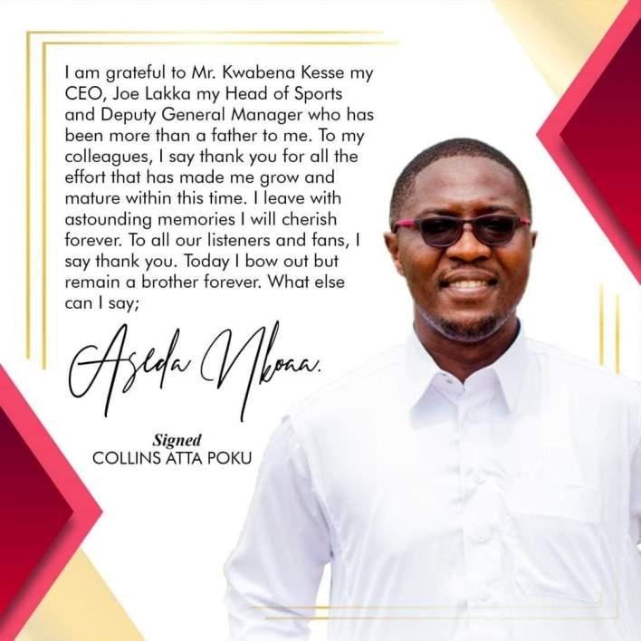 Atta Poku Quits Kessben FM, Set To Join Wontumi Radio/TV