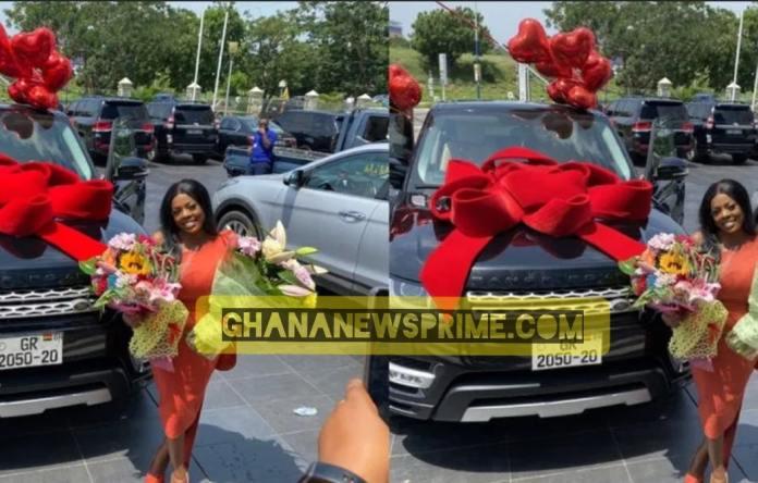 Nana Aba Anamoah Gets Brand New Range Rover On 42nd Birthday