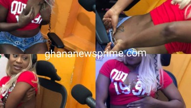 Efia Odo Exposes her Beautiful tattoos on 3FM Drive