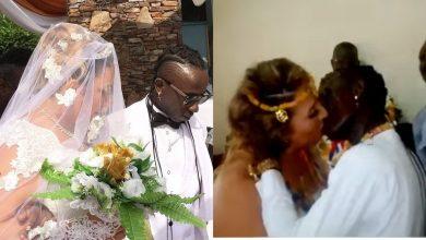 "Patapaa marries his Oyibo girlfriend, Gives Her a ""killer Kiss"" (Beautiful Photos)"