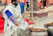 Ajagurajah Feeds Church Members