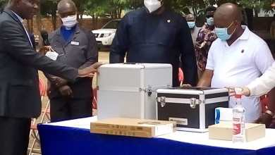 Health Minister Presents Covid-19 Testing Machine To Presbyterian Hospital