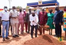 Prez. Nana Akufo-Addo Cut The Sod For The Construction Of Ghana Award House