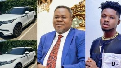 Kuami Eugene Receives Brand New 2020 Range Rover Velar From Dr. Kwaku Oteng For Being Adonko Brand Ambassador (Watch Video)