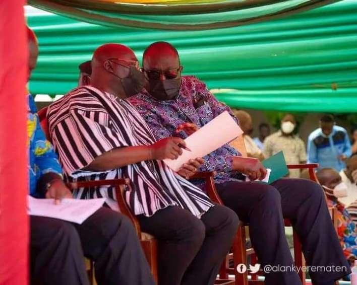 Hon. Alan John Kwadwo together with Dr. Mahamudu Bawumia