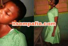 Sad photos of how 14-year-old Leticia Kyere of Miracles Junior High School hanged herself pop up