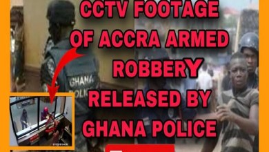 [HOT VIDEO] CCTV Footage Of Accra Armėd Robbėry Released By Ghana Police & A Strong Wårning to Securíty Systėm
