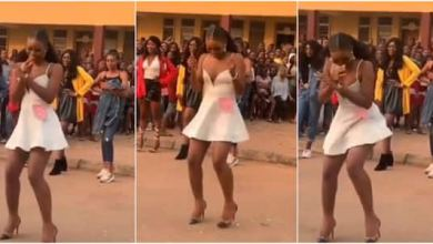 A student of Ambrose Alli University, Ekpoma, displayed her amazing dancing skills and wowed many on social media