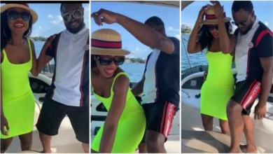 Video: Becca and husband give couple goals as they gets cozy on cruise boat