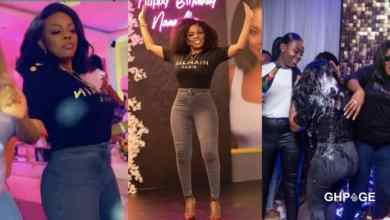 Nana Aba Anamoah shares screenshots of her message with her birthday thief