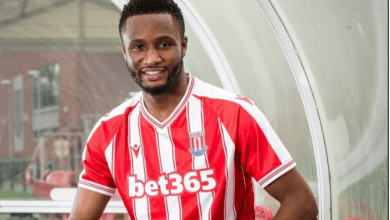Nigerian super star Mikel Obi extends his contract with Stoke City for 1 more year