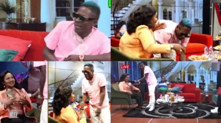 Shatta Wale splashes 500 dollars on Nana Ama Mcbrown live on UnitedShowbiz (Video)