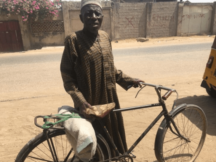 Man vows to ride bicycle he bought 32 pesewas 40 years ago till he dies