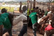 Fans throw Journalist out of stadium for accusing the referee of awarding a dubious penalty