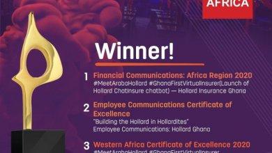 Hollard Ghana wins SABRE Africa Financial Communication Award