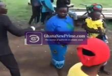 Hilarious moment woman fights off clergyman