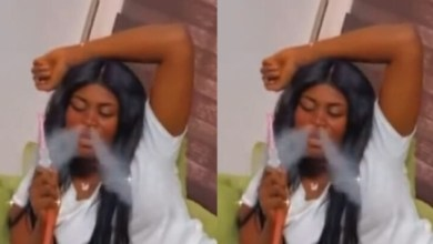Yaa Jackson exhibits her 'Jamaican' pro-smoking skills in a recent video.