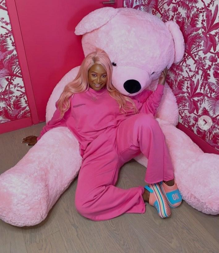 DJ Cuppy Displays A Teddy Bear As Her New Boyfriend, Fans React