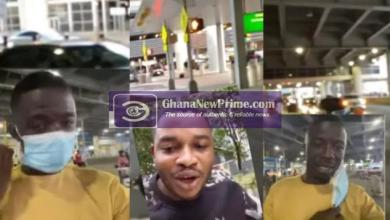 Video: Kwaku Manu imitates Twene Jonas' style as he arrives in New York