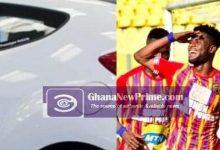 AHOK player Daniel Afriyie Barnieh gets a brand new Hyundai Veloster..