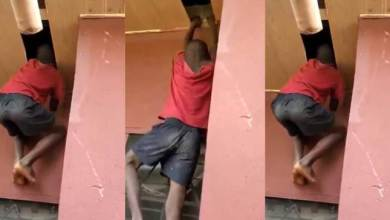 Breaking: Little boy breaks into someone's home through the ceiling to steal [Video]