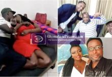 Woman being chewed by 3 men goofs around with her husband [Watch Video]