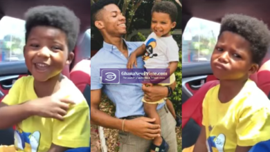Kidi son reacts when he heard his name in the 'golden boy album' intro [Video]