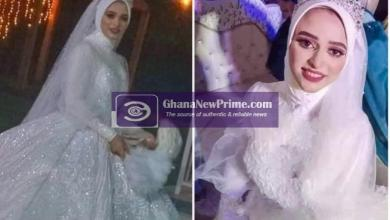 Sad! Bride, 21, dies of a heart attack an hour after her wedding, buried the next day