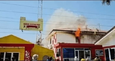 Report convened has it that fire has gutted Angel Broadcasting Network