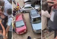 Video: Accra Technical university female students exchange blows over a guy on campus