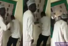 Angry Man storms school to check his son's result on the notice board