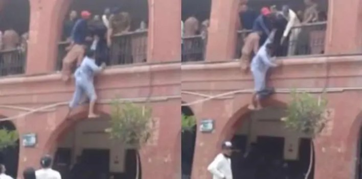 Heartbroken Husband Tries To Jump Off Court Building After Wife Leaves Him [Video]