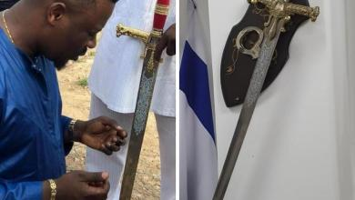 Photo of Nigel Giasie reveals why he buried a sword at his church