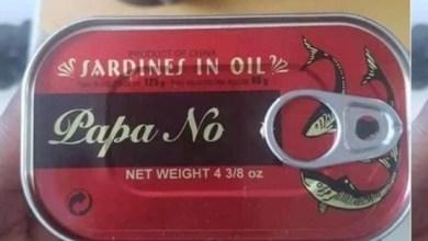 Photo of 'Papa no' sardine hits the market