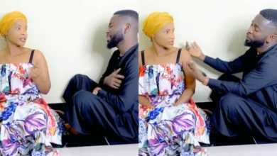 Photo of Bisa Kdei And Benedicta Gaffah Spotted In A Romantic And Funny Mood As He Sings For Her »