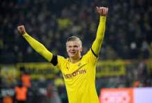 Photo of Borussia Dortmund's Erling Braut Haaland breaks Champions League goalscoring record
