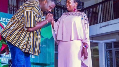 Photo of Who won?: John Dumelo and Lydia Alhassan exhibits their dancing skills in a dance battle (+Video)