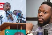 Photo of Kalybos mocks posters of John Mahama and John Dumelo (Watch Video)