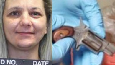 Photo of Woman arrested for hiding loaded gun in her vag!na