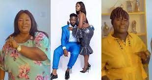 Photo of Fella Makafui's mother in a dance battle with Medikal's mother